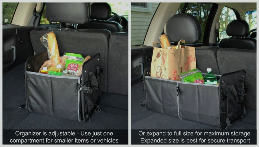 trunk organizer for grocery bags