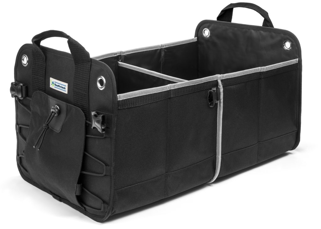 Main image of the heavy duty car runk organizer in color black
