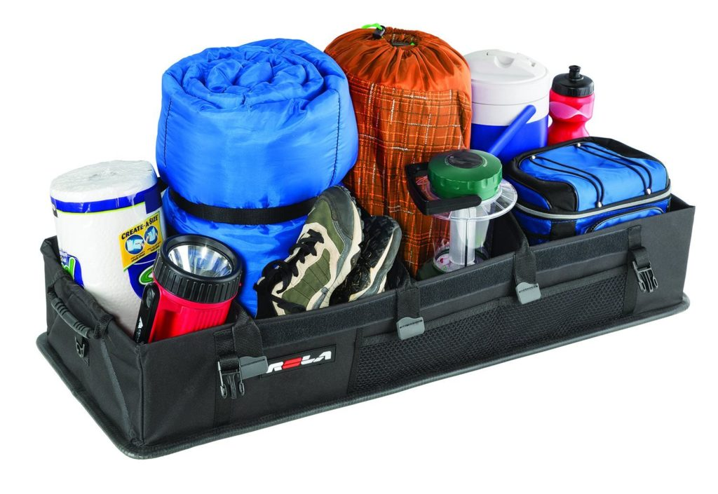 Camping Gear in a Car Organizer