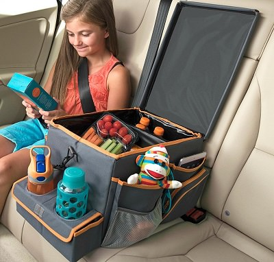 Kids Center Console Organizer with Snack and Play Tray
