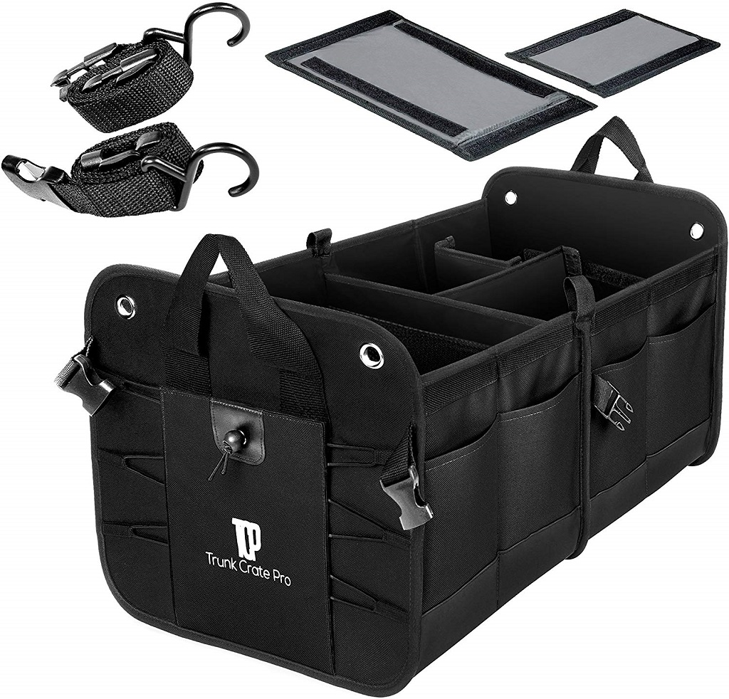 The TrunkCrate Pro Car Organizer with accessories