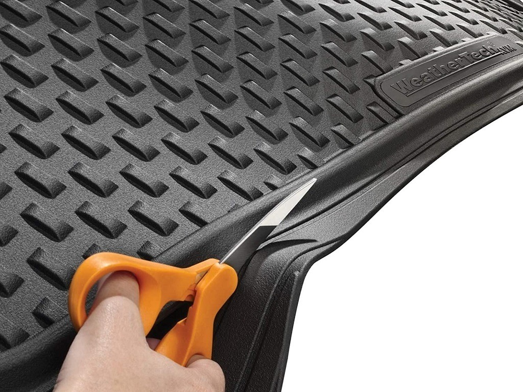 Cutting the WeatherTech trunk liner for a perfect fit