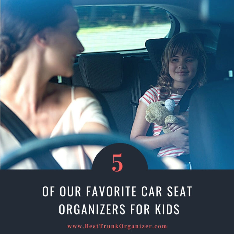 woman looking back to her child in the backseat - our favorite car seat organizers