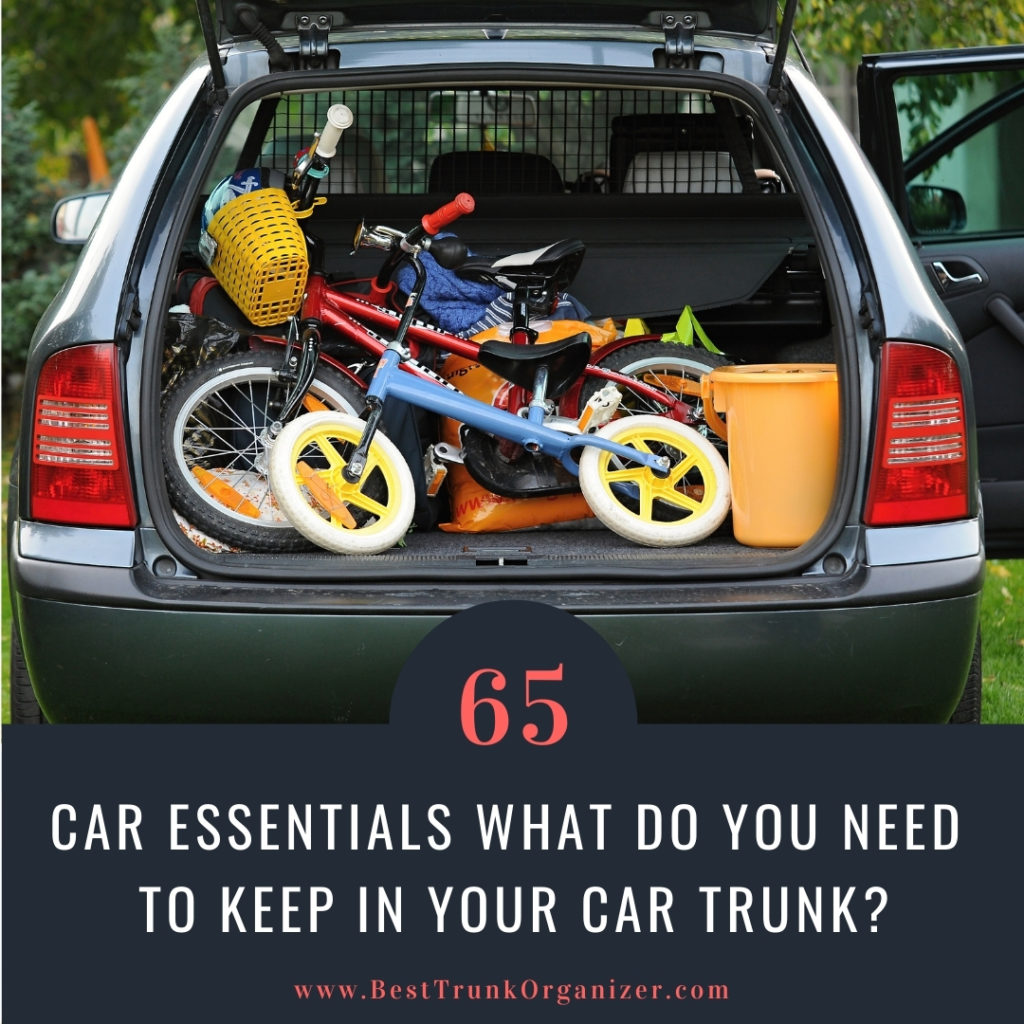 back of car filled with bikes gear and travel supplies - essentials for the car road trip